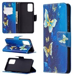 Golden Butterflies Leather Wallet Case for Samsung Galaxy A72 (4G, 5G)