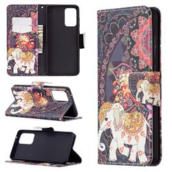 Totem Flower Elephant Leather Wallet Case for Samsung Galaxy A72 (4G, 5G)