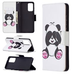 Lovely Panda Leather Wallet Case for Samsung Galaxy A72 (4G, 5G)