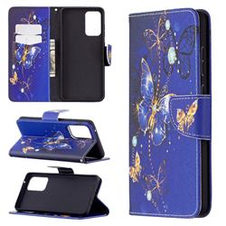 Purple Butterfly Leather Wallet Case for Samsung Galaxy A72 (4G, 5G)