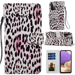 Leopard Smooth Leather Phone Wallet Case for Samsung Galaxy A72 (4G, 5G)