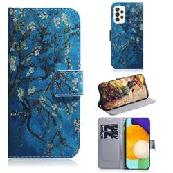Apricot Tree PU Leather Wallet Case for Samsung Galaxy A72 (4G, 5G)