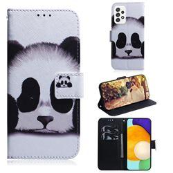 Sleeping Panda PU Leather Wallet Case for Samsung Galaxy A72 (4G, 5G)