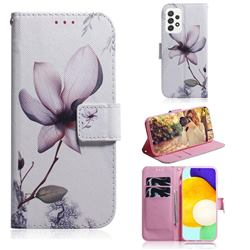 Magnolia Flower PU Leather Wallet Case for Samsung Galaxy A72 (4G, 5G)