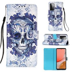 Cloud Kito 3D Painted Leather Wallet Case for Samsung Galaxy A72 (4G, 5G)