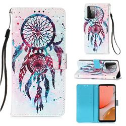 ColorDrops Wind Chimes 3D Painted Leather Wallet Case for Samsung Galaxy A72 (4G, 5G)