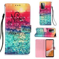 Colorful Dream Catcher 3D Painted Leather Wallet Case for Samsung Galaxy A72 (4G, 5G)