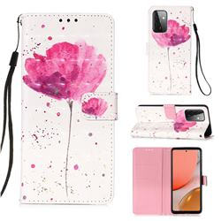 Watercolor 3D Painted Leather Wallet Case for Samsung Galaxy A72 (4G, 5G)