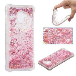 Dynamic Liquid Glitter Sand Quicksand Star TPU Case for Samsung Galaxy A8+ (2018) - Diamond Rose