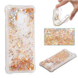 Dynamic Liquid Glitter Sand Quicksand Star TPU Case for Samsung Galaxy A8+ (2018) - Diamond Gold
