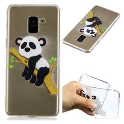 Tree Panda Super Clear Soft TPU Back Cover for Samsung Galaxy A8+ (2018)