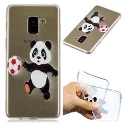 Football Panda Super Clear Soft TPU Back Cover for Samsung Galaxy A8+ (2018)