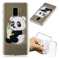 Baby Panda Super Clear Soft TPU Back Cover for Samsung Galaxy A8+ (2018)