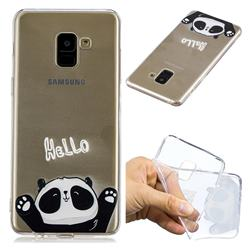 Hello Panda Super Clear Soft TPU Back Cover for Samsung Galaxy A8+ (2018)