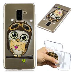 Envelope Owl Super Clear Soft TPU Back Cover for Samsung Galaxy A8+ (2018)