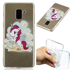Cloud Star Unicorn Super Clear Soft TPU Back Cover for Samsung Galaxy A8+ (2018)
