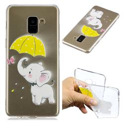 Umbrella Elephant Super Clear Soft TPU Back Cover for Samsung Galaxy A8+ (2018)