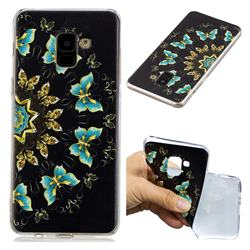 Circle Butterflies Super Clear Soft TPU Back Cover for Samsung Galaxy A8+ (2018)