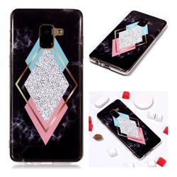 Black Diamond Soft TPU Marble Pattern Phone Case for Samsung Galaxy A8+ (2018)