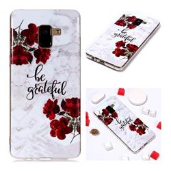 Rose Soft TPU Marble Pattern Phone Case for Samsung Galaxy A8+ (2018)