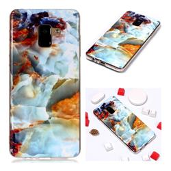 Fire Cloud Soft TPU Marble Pattern Phone Case for Samsung Galaxy A8+ (2018)