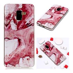 Pork Belly Soft TPU Marble Pattern Phone Case for Samsung Galaxy A8+ (2018)