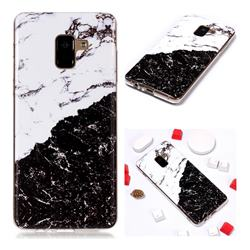 Black and White Soft TPU Marble Pattern Phone Case for Samsung Galaxy A8+ (2018)