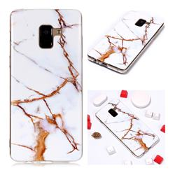 Platinum Soft TPU Marble Pattern Phone Case for Samsung Galaxy A8+ (2018)