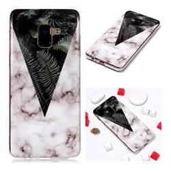 Leaf Soft TPU Marble Pattern Phone Case for Samsung Galaxy A8+ (2018)