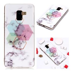 Hexagonal Soft TPU Marble Pattern Phone Case for Samsung Galaxy A8+ (2018)