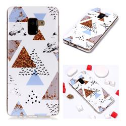 Hill Soft TPU Marble Pattern Phone Case for Samsung Galaxy A8+ (2018)