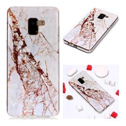 White Crushed Soft TPU Marble Pattern Phone Case for Samsung Galaxy A8+ (2018)