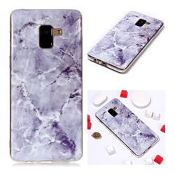 Light Gray Soft TPU Marble Pattern Phone Case for Samsung Galaxy A8+ (2018)
