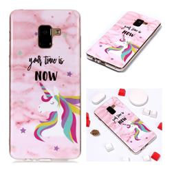 Unicorn Soft TPU Marble Pattern Phone Case for Samsung Galaxy A8+ (2018)