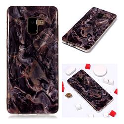Brown Soft TPU Marble Pattern Phone Case for Samsung Galaxy A8+ (2018)