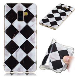 Black and White Matching Soft TPU Marble Pattern Phone Case for Samsung Galaxy A8+ (2018)