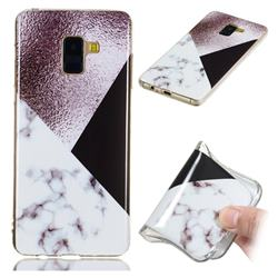Black white Grey Soft TPU Marble Pattern Phone Case for Samsung Galaxy A8+ (2018)