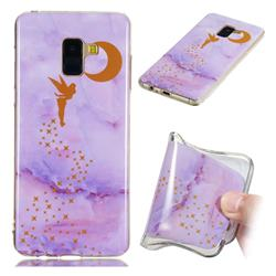 Elf Purple Soft TPU Marble Pattern Phone Case for Samsung Galaxy A8+ (2018)