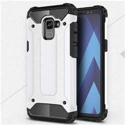 King Kong Armor Premium Shockproof Dual Layer Rugged Hard Cover for Samsung Galaxy A8+ (2018) - White