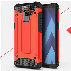 King Kong Armor Premium Shockproof Dual Layer Rugged Hard Cover for Samsung Galaxy A8+ (2018) - Big Red