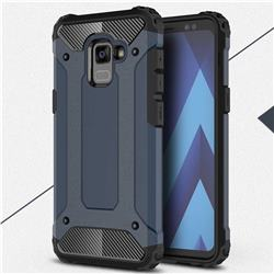 King Kong Armor Premium Shockproof Dual Layer Rugged Hard Cover for Samsung Galaxy A8+ (2018) - Navy