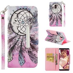Angel Monternet Big Metal Buckle PU Leather Wallet Phone Case for Samsung Galaxy A8+ (2018)