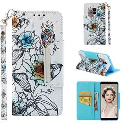 Fotus Flower Big Metal Buckle PU Leather Wallet Phone Case for Samsung Galaxy A8+ (2018)