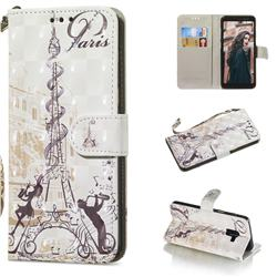 Tower Couple 3D Painted Leather Wallet Phone Case for Samsung Galaxy A8+ (2018)