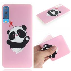 Heart Cat IMD Soft TPU Cell Phone Back Cover for Samsung Galaxy A7 (2018)