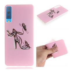 Butterfly High Heels IMD Soft TPU Cell Phone Back Cover for Samsung Galaxy A7 (2018)