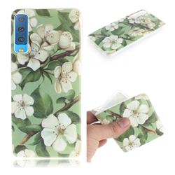Watercolor Flower IMD Soft TPU Cell Phone Back Cover for Samsung Galaxy A7 (2018)