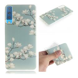 Magnolia Flower IMD Soft TPU Cell Phone Back Cover for Samsung Galaxy A7 (2018)