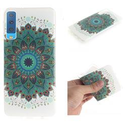 Peacock Mandala IMD Soft TPU Cell Phone Back Cover for Samsung Galaxy A7 (2018)
