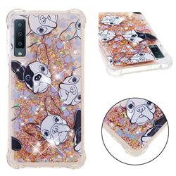 Bulldog Dynamic Liquid Glitter Sand Quicksand Star TPU Case for Samsung Galaxy A7 (2018)